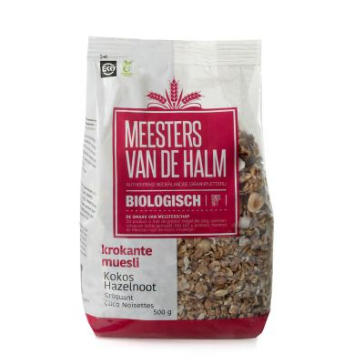 De Halm Krokante Muesli Kokos Hazelnoot (500 gram)