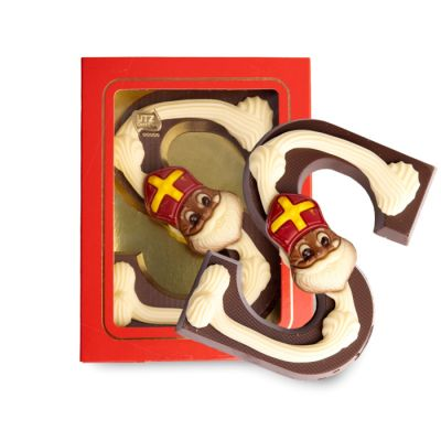 Luxe Chocoladeletter S Puur (200 gram)