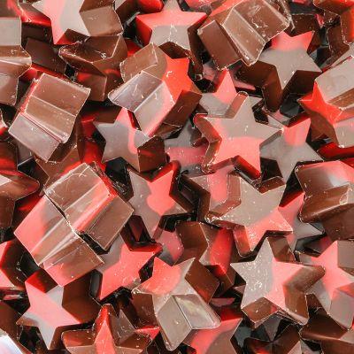 Kerststerren van pure chocolade
