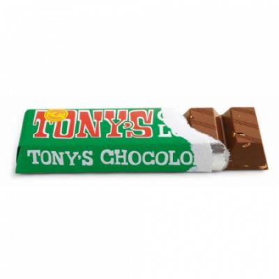 Tony's Chocolonely melk hazelnoot klein open