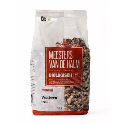 De Halm Muesli Vruchten Bio (750 gram)
