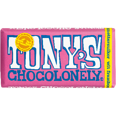 Tony's Chocolonely wit framboos