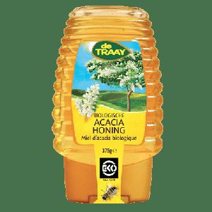 Acacia Honing Bio Knijpfles (375 gr)