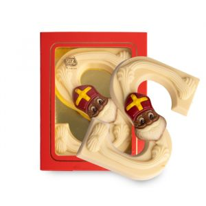 Luxe Chocoladeletter S Wit (200 gram)