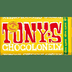 Tony's Chocolonely reep Melk Noga